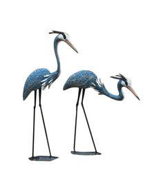 2 Piece Herons Statue Set
