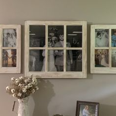 Three Window Group, Farmhouse Three Window Frame Set with Antiqued Finish Picture Frame Decor, Wall Decor Living Room, Decor, Photo Wall Decor, Modern Farmhouse Decor, Rustic House, Wall Decor, Hallway Designs, Creative Living