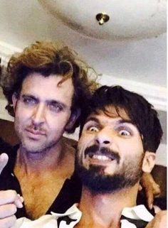 Super cool selfie of the two coolest actors cum dancers of #bollywood @shahidkapoor and @iHrithik after #IIFA2015