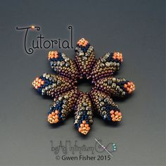 TUTORIAL Cellini Flowers and Leaves Beaded with by gwenbeads