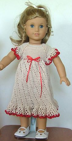 Ravelry: American Girl Doll Summer Raglan Dress pattern by Elaine Phillips