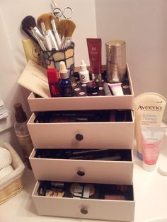 Glossy Box Makeup Drawers