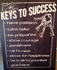 keys to success quotes