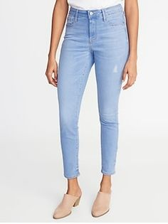 c0296560 High-Rise Secret-Slim Pockets Distressed Rockstar Super Skinny Jeans for  Women