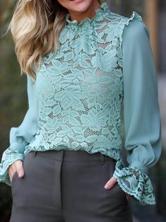 Clothes For WomenPlus Size Fashion For Women SummerSpring Outfit For WorkDresses For Women Blouse Styles, Blouse Designs, Modest Fashion, Fashion Dresses, Blouse Models, Patchwork Dress, Ladies Dress Design, Chic Outfits, Party Outfits