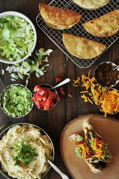 Potato Tacos | candid appetite  ~~~~Whether you're a vegetarian or not, these tacos will satisfy any Tex-Mex dinner craving. Top them with anything your heart desires. Use store-bought salsas to jazz them up. They're an easy and fast weeknight meal.