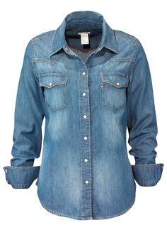 Levi's Levi's Denimskjorte i fargene Denimblå innen Dame - Skjorter - Ellos