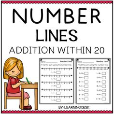Number Lines Addition by Learning Desk Counting Money Worksheets, 1st Grade Math Worksheets, Fractions Worksheets, Number Line Subtraction, Addition And Subtraction Worksheets, Cut And Paste Worksheets, Distance, Teacher Newsletter, Teacher Pay Teachers