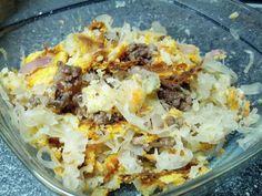 Zuurkoolschotel met Gehakt & Zoete Aardappel