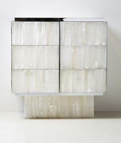 GYPSUM AND METAL CABINET | Original and organic cabinet design | http://www.bocadolobo.com/en/index.php | #cabinet #buffet #luxuryinterior