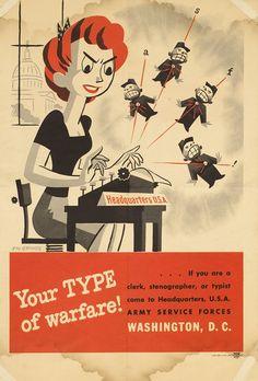 Your Type of Warfare! by Graves, Stu | Shop original vintage #posters online: www.internationalposter.com