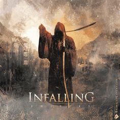 Infalling - Ominous (animated cover artwork GIF) #infalling #deathmetal #heavymetal #blackmetal #metal #hardcore #metalheads #animatedcovers #music #animatedalbums