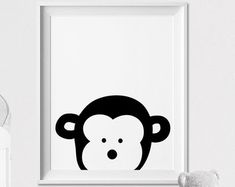 Lion Nursery Print Safari Animal Art Wall Kaboo Minimal Black And White Kids Room Decor Artfilesvicky