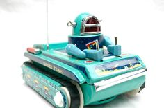 Vintage Tin Litho Toy Space Toy Astronaut Robot by AstralBoutique, $100.00