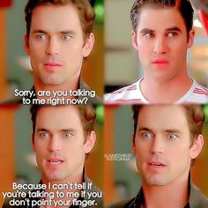 Funny moment from Glee guest star Matt Bomer