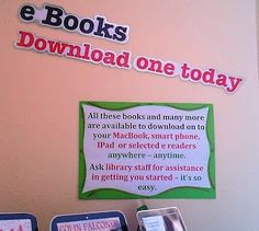 Library Displays: neat way to publicize your Ebooks with a print display!