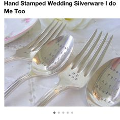 Wedding silverware @bethcomer