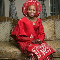 All things red and beautiful. Princess  @its_faridabala in red for her pre- wedding dinner. #fiba2017  Photo: @roqan_ojomo  #bride #wedding #kano #zamfara - #ebfablook