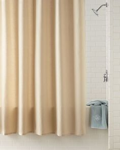 HB1H6 Waterworks Studio Linen/Cotton Shower Curtain