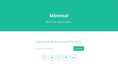 Check out minimal - coming soon page by DiamondCreative on Creative Market
