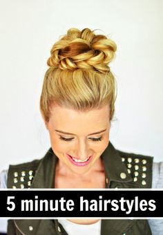 Did someone say five minute hair styles? Sign me up! I love these easy looks. / Colleen at WrapsodyBaby.com