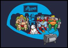 This Washed Up Superheroe shirt is a great shirt from T Shirt Laundry