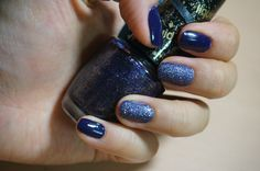 Simple Nails : Similar color and different texure. Jessica 639 For your eyes only / OPI NL F67 Alcatraz... Rocks.
