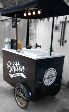 Food Cart Design, Food Truck Design, Coffee Carts, Coffee Shop, Food Cart Business, Mobile Food Cart, Bike Food, Coffee Trailer, Food Kiosk