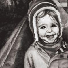 """(c) Alisha Lee Jeffers. """"Ryan."""" Oil on canvas. 20""""x20"""""""