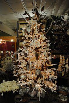 Natural Christmas tree decorations.  Christmas 2013