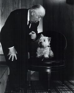 Alfred Hitchcock | Classic Movie Stars Spending Time With Their Pets. AAAAAGGGGHHHH. KILLS ME!