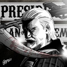 Sons Of Anarchy: Jax Teller. Digital illustration by Fabio Govoni