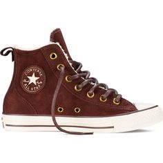 Converse Chuck Taylor All Star Chelsee – brown Sneakers ($80) ❤ liked on Polyvore featuring shoes, sneakers, brown, converse, star sneakers, rubber sole shoes, brown shoes, brown sneakers and wool shoes