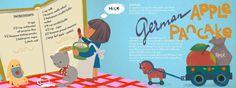 German Apple Pancake by Alisa Bloom - They Draw & Cook