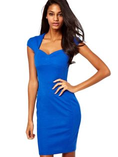 Square Neck Slim Short Sleeve Dress
