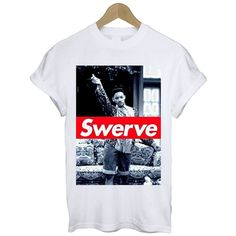 Fresh Prince 'Swerve' T Shirt Tee S M L XL Retro Will Smith TV Show... ($12) ❤ liked on Polyvore featuring tops, t-shirts, shirts, tees, short sleeve tee, stitch t shirt, crew neck shirt, cotton shirts and short sleeve shirts
