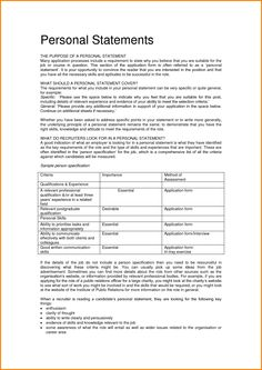 Personal Statement For Resume Impressive Personal Statement Limit  Personal Statement  Pinterest  Teacher