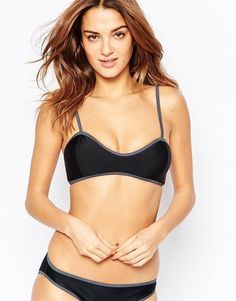 Image 1 of South Beach Mix and Match Cami Bralette Bikini Top