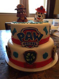 Paw patrol birthday cake www.facebook.com/CakeWhippedByAngie