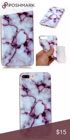 iPhone 7 PLUS Marble Case Brand new! Super cute! Flexible Case. Accessories Phone Cases