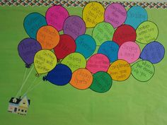 Up, student encouraged,  bulletin board