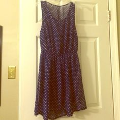 Navy & White Polka Dot Dress Such a cute flowy summer dress! Purchased here but too large for me. H&M Dresses