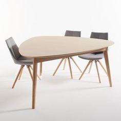 Table triangulaire chêne 6 couverts, Biface La Redoute Interieurs