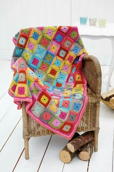 Stylecraft Home Square in a Square Throw Blanket Life DK Crochet Pattern 9232 Grannies Crochet, Crochet Quilt, Crochet Squares, Crochet Blanket Patterns, Baby Blanket Crochet, Crochet Yarn, Crochet Blankets, Crochet Afghans, Crocheted Lace