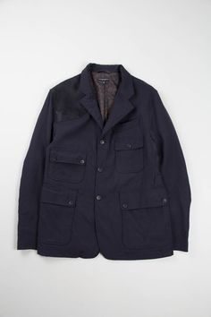 Dark Navy Calvary Twill Suffolk Jacket | Engineered Garments