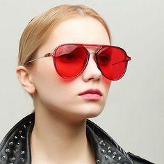 Oversized Transparent Frame Sunglasses Women 2018. Lunettes De SoleilFemmes  ... 0ada58b0921e