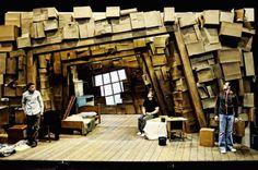 The Caretaker by Harold Pinter. Venue : Theatr Genedlaethol Cymru. Set by Sean Crowley. 2010. Society of British Theater Designers.