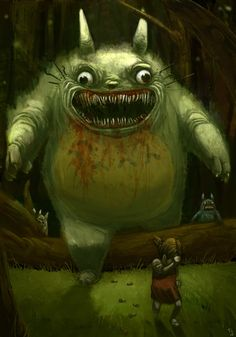 Totoro gone mad.
