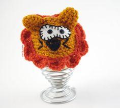 #Cozy #EGG Warmer #Crochet #Lion Wool Egg Cup #Kitchen #Funny #Mustard #Brown #lol