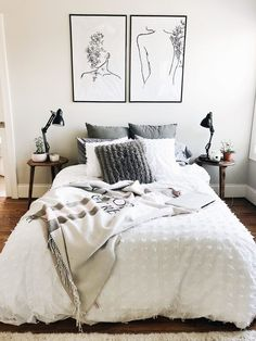 Do You Like An Ideas For Scandinavian Bedroom In Your Home? If you want to have An Amazing Scandinavian Bedroom Design Ideas in your home. Apartment Bedroom Decor, Home Bedroom, Modern Bedroom, Apartment Living, Master Bedroom, Contemporary Bedroom, Minimalist Bedroom, Bedroom Classic, Budget Bedroom